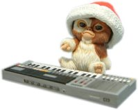 Santa Gizmo on Keyboard